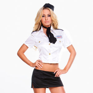 Hustler Costume 4PCS Mile High Stewardess Set